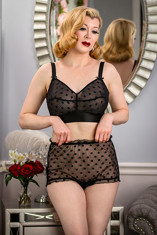 Vintage Lingerie | New Underwear, Bras, Slips Lucy Point dEsprit BriefGlamour Mail $39.00 AT vintagedancer.com