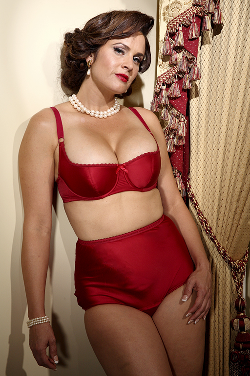 60s 70s Plus Size Dresses, Clothing, Costumes Satin Intrigue Shelf Bra $40.50 AT vintagedancer.com