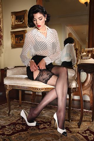 Eden Lace Top Stocking