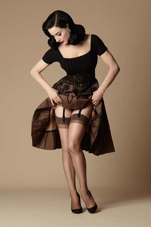 What Did Women Wear in the 1950s? Dita Daytime Sheer $14.00 AT vintagedancer.com