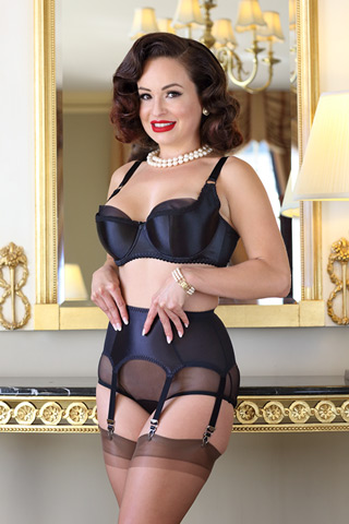 Speakeasy Satin Plunge Bra