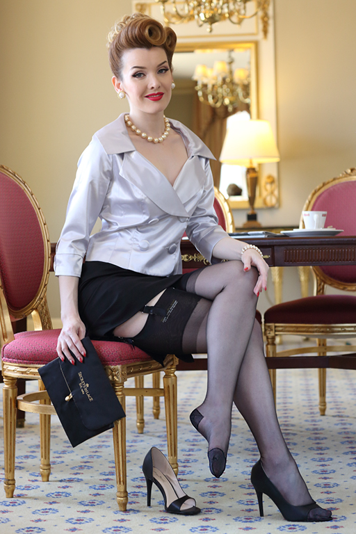 Seamed Stockings, Nylons, Tights Vivian Extended Toe  RHTGlamour Mail $19.99 AT vintagedancer.com