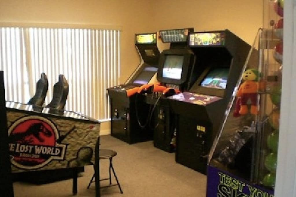 Games room in the clubhouse