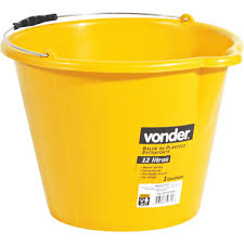 BALDE DE PLASTICO EXTRAFORTE 12 LITROS AMARELO - VONDER VONDER  3315012002 PC 69327
