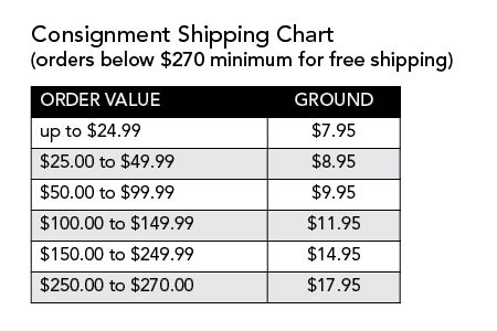 Consignment Shipping Rates