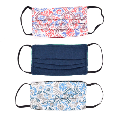 Color Burst Face Mask with Filter Pocket - Set of 3