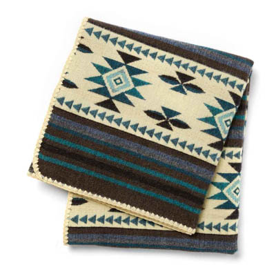 La Costa Blue Woven Throw