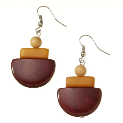 Camila Sunset Tagua Earrings
