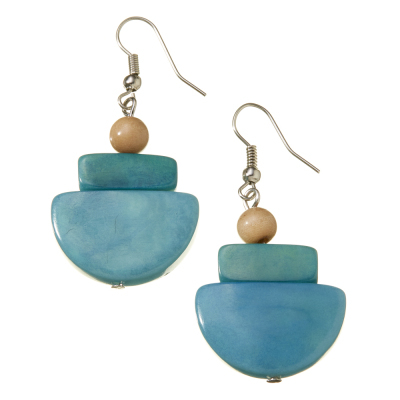 Camila Sea Breeze Tagua Earrings