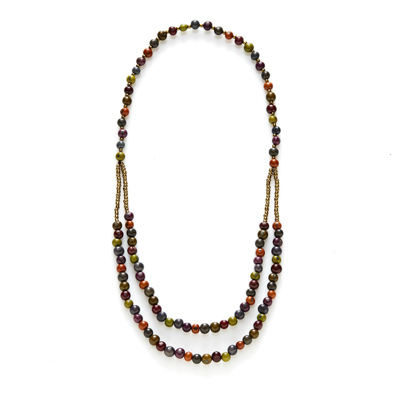 Autumn Acai Bead Necklace