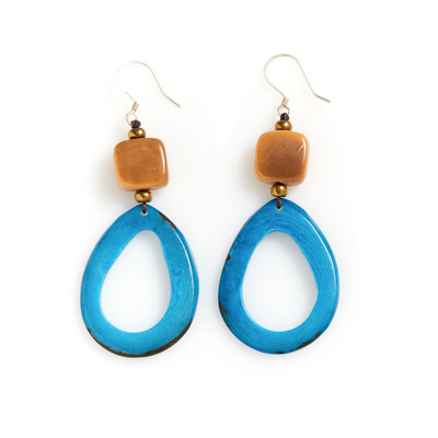 Raindrop Tagua Earrings