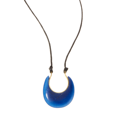 Tagua Crescent Necklace