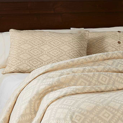 Egyptian Cotton Brocade Pillow Shams - Dove Gray