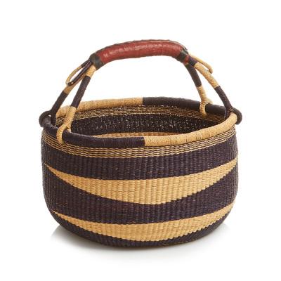 Round Navy Nautilus Basket