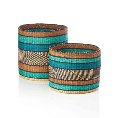 Ocean Nesting Baskets (XL) - Set of 2