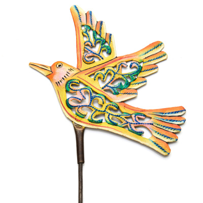 Yellow Bird Garden Stake
