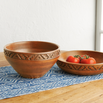 Rangoli Turned Wood Bowl