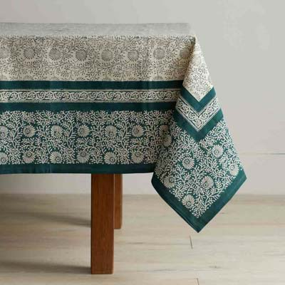 Spruce Wildflower Tablecloth