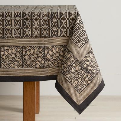 Geo Block Print Tablecloth