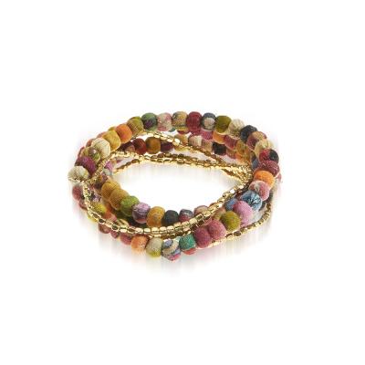 Stretch Sari Bracelet Set