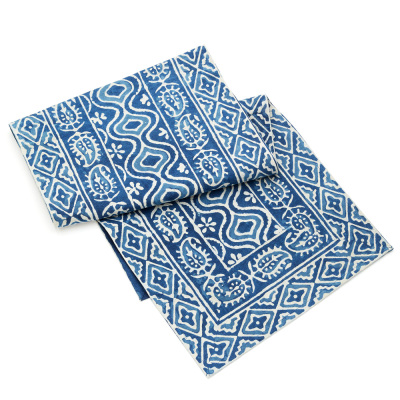 Wave Dabu Table Runner