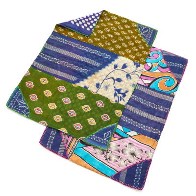 Cool Tones Kantha Placemats Set