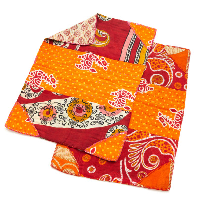 Warm Tones Kantha Placemats Set