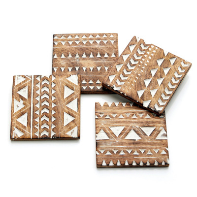 Mango Wood Coaster, Set of 4