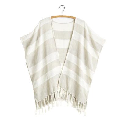Zahra Kimono - Natural & Tan Stripe