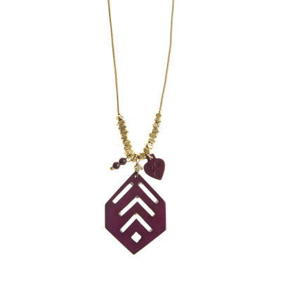 Bold Burgundy Necklace