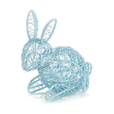 Blue Wire Bunny