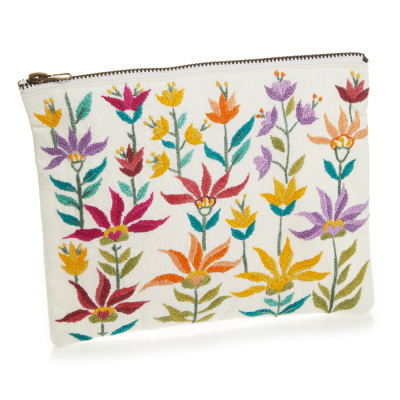 Floral Zipper Pouch - Medium