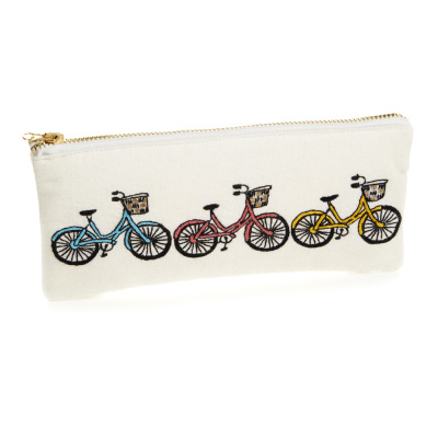 Bicycle Trio Zipper Pouch - Small
