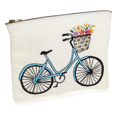 Bicycle Zipper Pouch - Medium