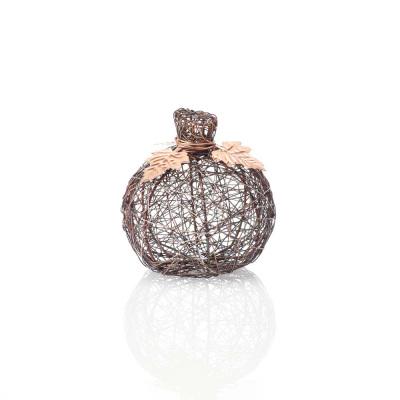 Copper Wire-Wrapped Pumpkin - Small
