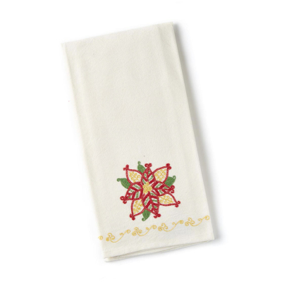 Poinsettia Tea Towel