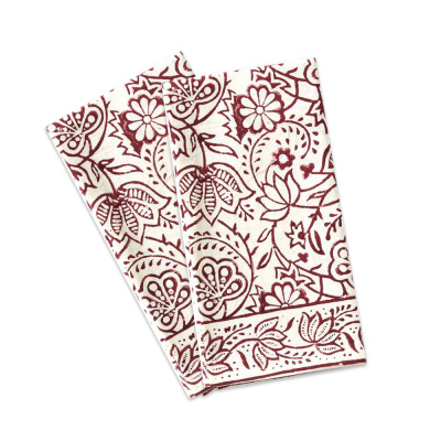 Cranberry Vine Napkins Set