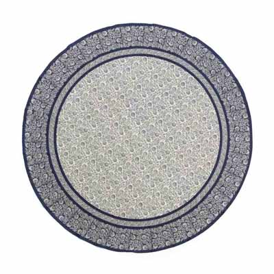 Navy Round Tablecloth