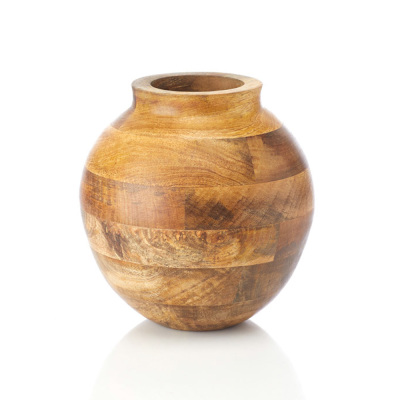 Mango Wood Oval Vase