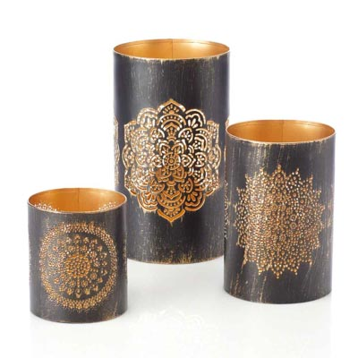 Iron Mandala Lantern Set