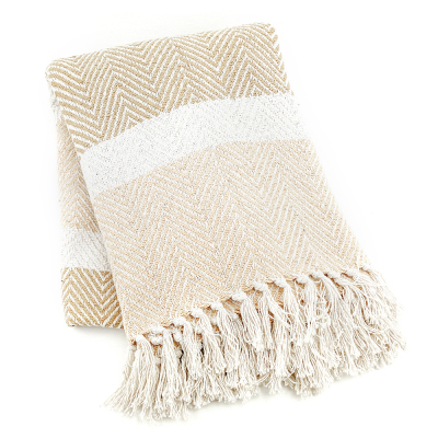 Natural Striped Rethread Throw - Buy 2 and Save!