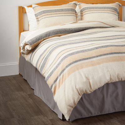Papyrus Stripe Linen Bedding