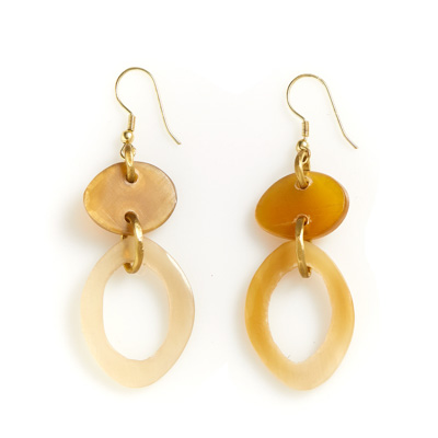 Natural Oval Earrings