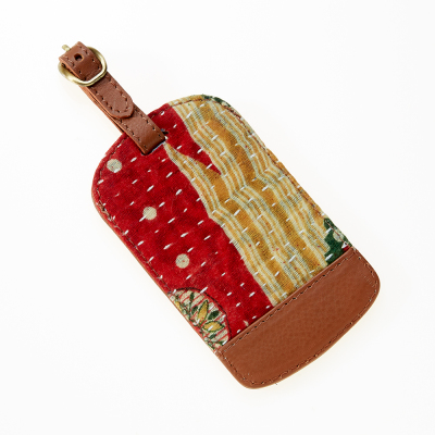 Kantha Luggage Tag