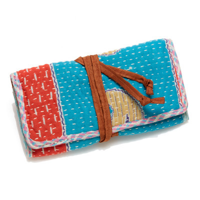 Kantha Jewelry Roll