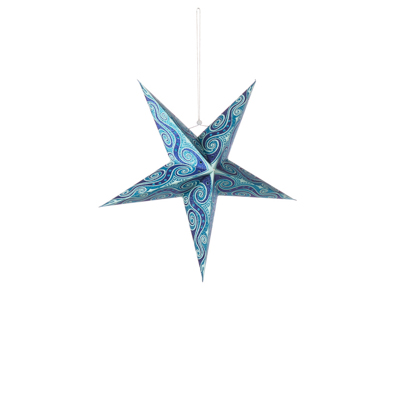 Small Swirling Blue Star Lantern