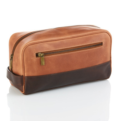 Copper & Chestnut Leather Dopp Bag