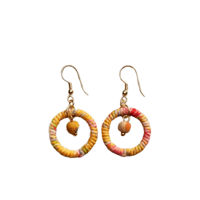 Warm Shana Twisted Sari Earrings