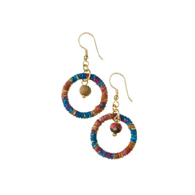 Cool Shana Twisted Sari Earrings