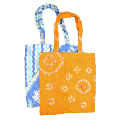 Recycled Sari Tote Bags - Set of 2